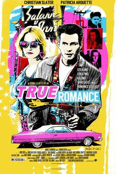 Movie Poster Movement — True Romance by James Rheem Davis Best Movie Posters, Movie Poster Art, Music Posters, True Romance, Romance Movies, Poster Retro, Vintage Posters, Screen Print Poster, Poster Prints