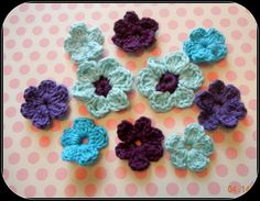 Crochet Flower Appliques    www.sweetgeorgiapurls.etsy.com