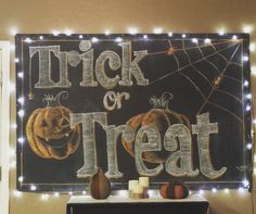 Halloween Chalkboard  Art by Jesse Lopez                                                                                                                                                                                 More