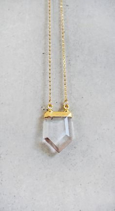 #CRYSTAL point #necklace by keijewelry