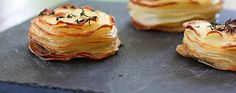 roasted potato stacks. easyish.. 35 minutes to cook.. about 30 to prepare