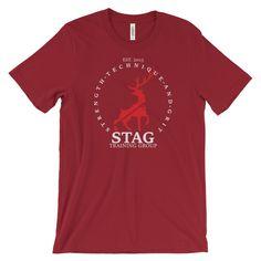 STAG Original Unisex Cotton Tee White Lettering