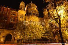 Berlin bei Nacht an der Synagoge Bezirk Mitte