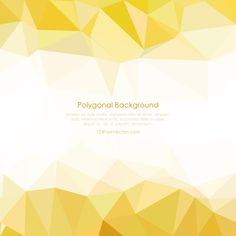 Low Poly Light Gold Background Design