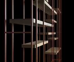 'Cage-B' bookcase by Massimo Castagna for Henge (IT) - www.henge07.com