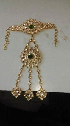 Bridal bracelet Monday M Indian Wedding Jewelry, Indian Jewelry, Bridal Jewelry, Rajputi Jewellery, Hand Jewelry, Bridal Bracelet, Jewelry Design, Fashion Jewelry, Bangles