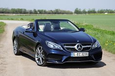 2014 Mercedes-Benz E-Class Cabriolet - right front qtr Mercedes Benz E550, Mercedes Logo, Mercedes E Class, Benz E Class, Mercedes Benz Convertible, Cabriolet, Power Cars, Twin Turbo, Go Kart