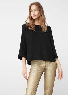 T-shirt laço  - Camisas de Mulher | MANGO Portugal