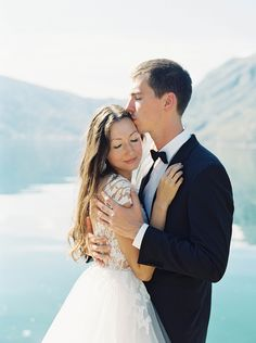 Dreamy Mountainside Wedding Inspiration via oncewed.com #wedding #bride #groom #spring #romantic #ethereal #elegant #mountains #lake