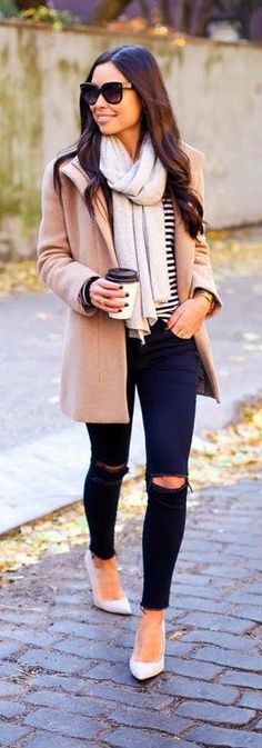 The latest selection of casual fall outfits you can wear everyday this season. More outfit ideas curated every week just for you. Stylish Winter Outfits, Fall Winter Outfits, Autumn Winter Fashion, Casual Outfits, Winter Wear, Winter Style, Casual Wear, Cozy Winter, Office Outfits