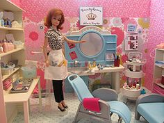 barbie salon vintage