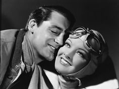 """Cary Grant and Myrna Loy in """"Wings in the Dark"""", (1935)"""