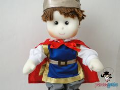 Boneco De Pano Príncipe Encantado 40 Cm