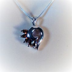 """Sterling Silver Clear CZ Heart Pendant Necklace, 18"""""""
