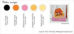 Aug 2015 Color Recipe 2 (Black, Orange Zest, Hibiscus Burst, Summer Sunrise, Harvest Gold)