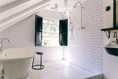 How One Interior Designer Turned A Schoolhouse Into an Ultra Stylish Retreat Inside Interior Designer Leanne Ford's Renovated Pennsylvania Schoolhouse Wet Rooms, Interior, Interior Design Advice, Shower Stall, Inside Interiors, Small Bathroom, Diy Bathroom Remodel, Interior Design, Bathroom Design