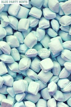 A party ain't a party without these Blue Party Mints! Do yourself a favor and make sure everyone's breath is as fresh as can be at your wedding, baby shower, graduation party or birthday party. Blue Candy, Rock Candy, Jack And Jill, Gumball, Mint, Baby Shower, Birthday, Party, Blues