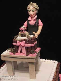 A cake, on a cake, on a cake! - Cake by Mother and Me Creative Cakes