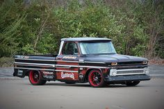 Richard Rawlings of Gas Monkey Garage took on the 2014 Pikes Peak hill climb in this C10 pace truck. Now it's up for grabs.