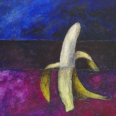Banán akryl na kartonu rozměr: 61x43 cm