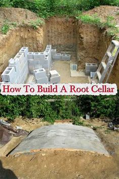 How To Build A RootCellar This is a great project on how to build a root cellar or a secret underground bunker if that is what you want. For those unfamil #bunkerplans
