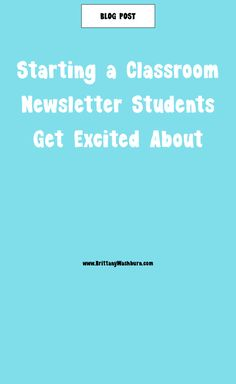Classroom newsletters don't have to be dry and boring. Classroom newsletters can be super fun and enjoyable. The Newsletter is the most classic way to engage and keep engaging your audience. The same goes for the Classroom Newsletter. It is a great way to give updates, remind of upcoming events, and have fun with kids and parents.  Here, I'll show you how to get started with your newsletter and make it something students look forward to as much as they look forward to recess! Classroom Newsletter, A Classroom, Google Classroom, Technology Lessons, Technology Tools, Educational Technology, Media Specialist, Fifth Grade, Get Excited