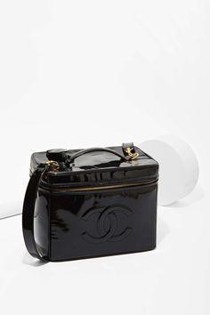 Vintage Chanel Patent Leather Jumbo Vanity Bag