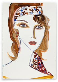 Tanya Ling  For Louis Vuitton  2012  Acrylic paint and ink on paper  42 x 29.5 cm  02229
