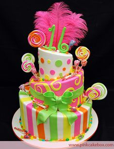 We love candy themed sweet 16 cakes at Pink Cake Box. The tradition continues this week with another 3 tier candy filled cake. The flavors included chocola
