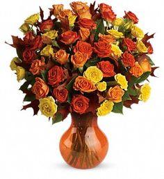 Fabulous Fall Roses in Metro New OrleansLA, Villere's Florist. http://villeresflorist.com/metairie-florist/halloween-flowers-90c.asp?topnav=TopNav