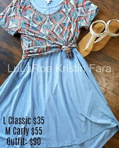 LuLaRoe Carly with a LuLaRoe Classic Tee over for a simply cute outfit! Join my page for more: facebook.com/lularoekristinfara