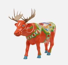 Dala Cow with Moose Antlers