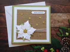 Christmas cards, rustic Christmas cards,poinsetta cards, handmade cards, Homemade Christmas cards,poinsettia cards by PinkyPromiseBargains on Etsy