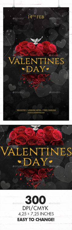 valentines day flyer templates free download