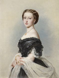 Portrait of Princess Louise, Duchess of Argyll by Albert Graefle, ca. Princess Louise was born 168 years ago today on 18 March She was the sixth child of Queen Victoria and was an accomplished sculptor and artist. Queen Victoria Family, Victoria And Albert, Victorian Art, Victorian Fashion, Franz Xaver Winterhalter, Princess Louise, Royal Collection Trust, Herzog, Old Paintings
