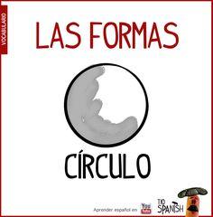 Circulo, las formas, vocabulario espanol intermedio ELE
