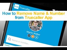 How to Remove Your Name &Number from Truecaller App search result w. Techno, How To Remove, Names, App, Search, Youtube, Searching, Apps, Techno Music