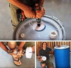 Step 4: Drill The Third Hole   Make A DIY Rain Barrel And Never Waste Water Again