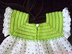 Patrones De Vestido De Niñas  tejidos a crochet