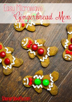 easy microwave gingerbread cookies reliantchallenge - Creative Christmas Cookies