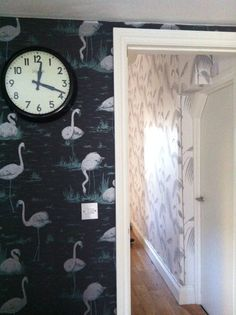 Cole and son Flamingos and Palm. Available from Sally Bourne Interiors, 26 Muswell Hill Broadway, London, N10 3RT. Telephone 020 8444 3031 www.sallybourneinteriors.co.uk
