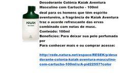 Rede Natura Espaco Resek: Desodorante Colônia Kaiak Aventura Masculino com C...