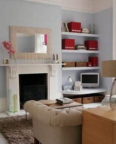 More Living Room Storage. This looks lovely because everything matches but I know mine wouldn't look like that for long!