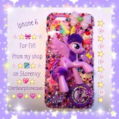 My little pony iPhone 6 custom case from my shop on Storenvy-Cherbearphonecases- Check out my Instagram gallery @cchobbo to see all of my cases!