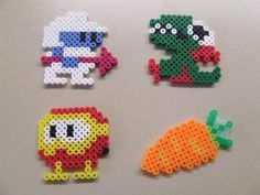 Dig Dug Retro Arcade Pixel Art Bead Sprite SET  by MelParadise