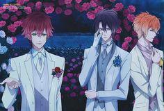 Ayato, Reiji, and Shu Sakamaki - Diabolik Lovers Diabolik Lovers Season 3, Diabolik Lovers Episodes, Anime Diabolik Lovers, Mystic Messenger, Lovers Tumblr, Manga, Reiji Sakamaki, Vampire Boy, Hot Vampires