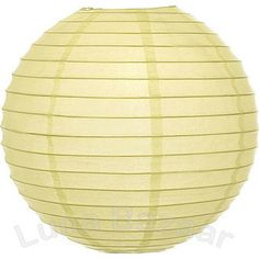 "Lemonade Yellow 12 Inch Wholesale Paper Lanterns.  This ""Premium"" yellow paper lantern is made with the finest quality rice paper and features our signature parallel wire ribbing. This lantern also includes a versatile expander which clips directly onto a light bulb!"