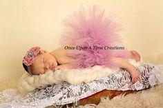 Mauve Pink Couture Tutu  Girls Size 3 6 9 12 by OnceUponATimeTuTus