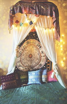 This incredible Astrological Wheel Tapestry can be used as a wall hanging or bed cover