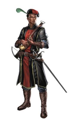Male Black Human Bard - Pathfinder PFRPG DND D&D d20 fantasy